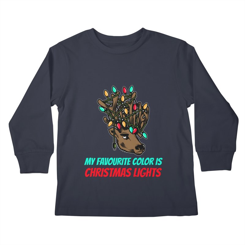 MY FAVORITE COLOR IS CHRISTMAS LIGHTS Kids Longsleeve T-Shirt by Saksham Artist Shop