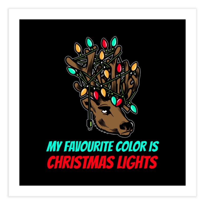 MY FAVORITE COLOR IS CHRISTMAS LIGHTS Home Fine Art Print by Saksham Artist Shop
