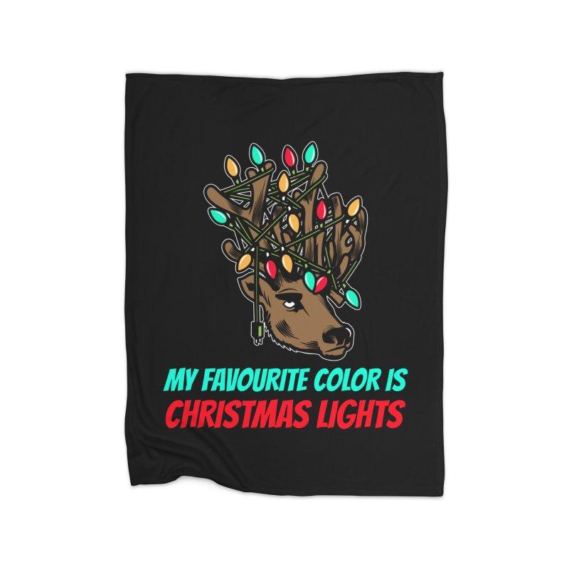 MY FAVORITE COLOR IS CHRISTMAS LIGHTS Home Blanket by Saksham Artist Shop