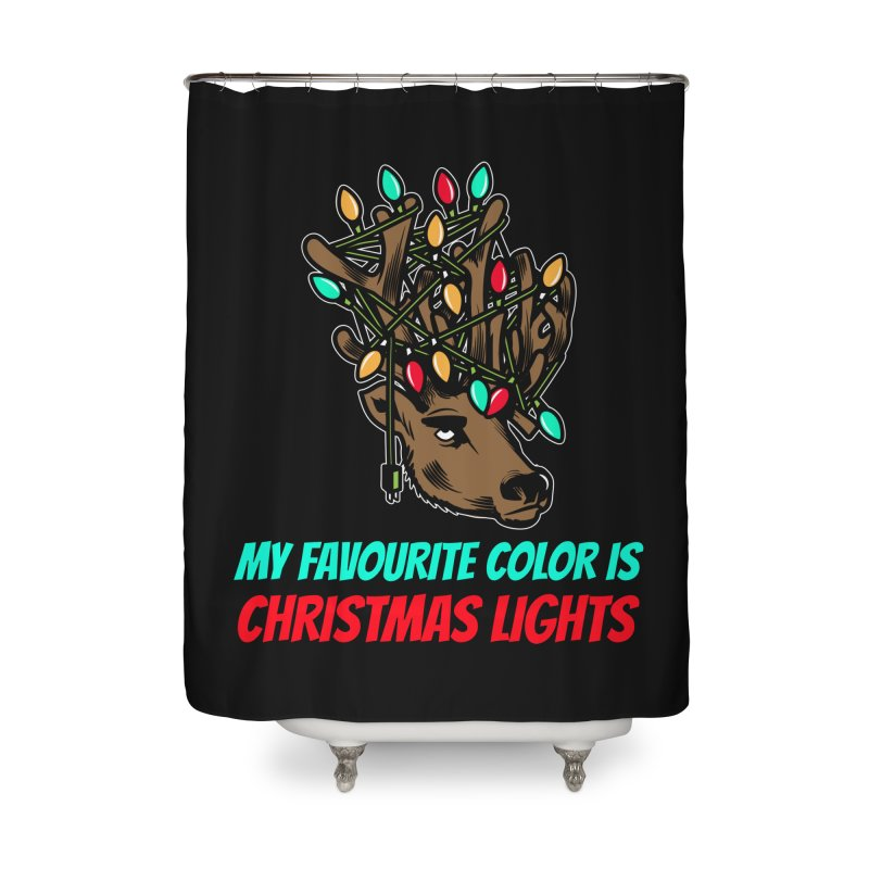 MY FAVORITE COLOR IS CHRISTMAS LIGHTS Home Shower Curtain by Saksham Artist Shop