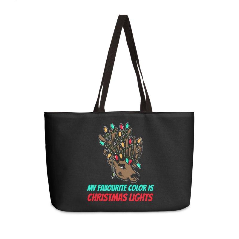 MY FAVORITE COLOR IS CHRISTMAS LIGHTS Accessories Bag by Saksham Artist Shop