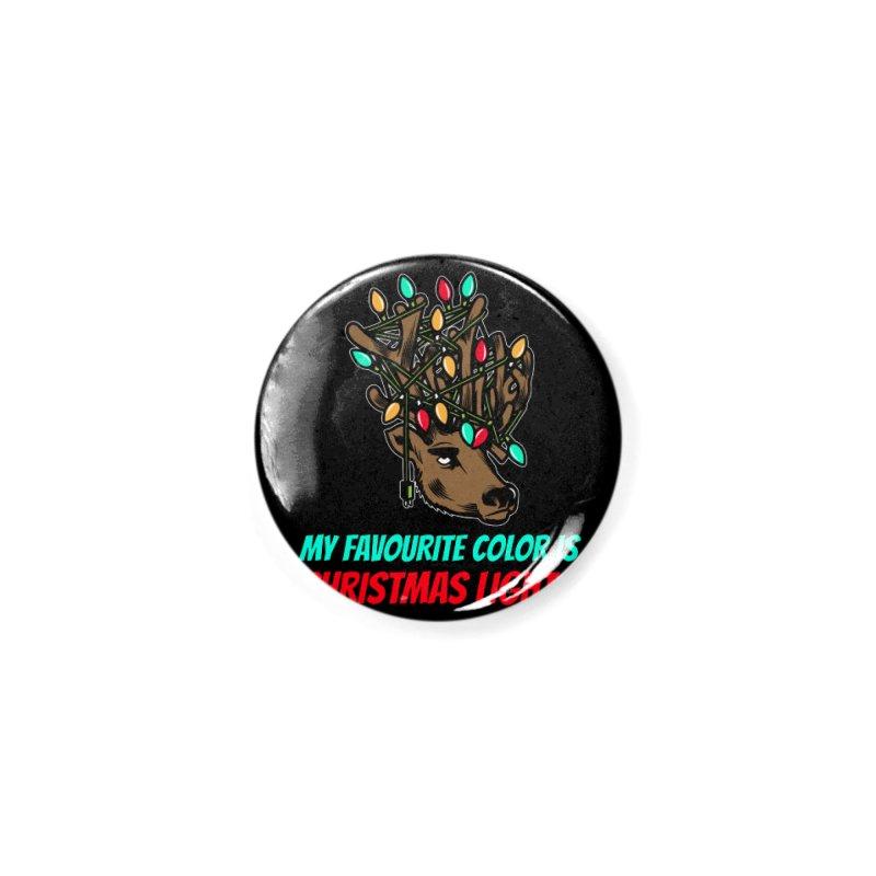 MY FAVORITE COLOR IS CHRISTMAS LIGHTS Accessories Button by Saksham Artist Shop