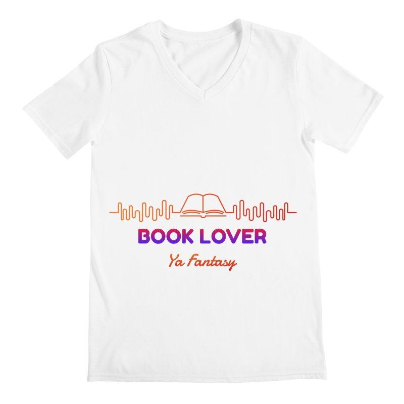 BOOK LOVER YA FANTASY Men's V-Neck by Saksham Artist Shop