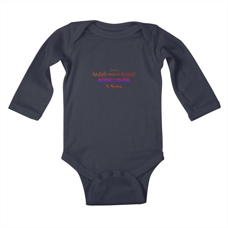 BOOK LOVER YA FANTASY Kids Baby Longsleeve Bodysuit by Saksham Artist Shop
