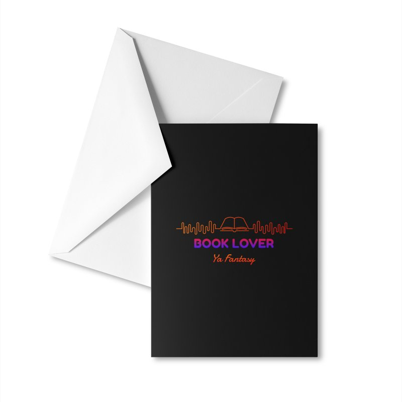 BOOK LOVER YA FANTASY Accessories Greeting Card by Saksham Artist Shop