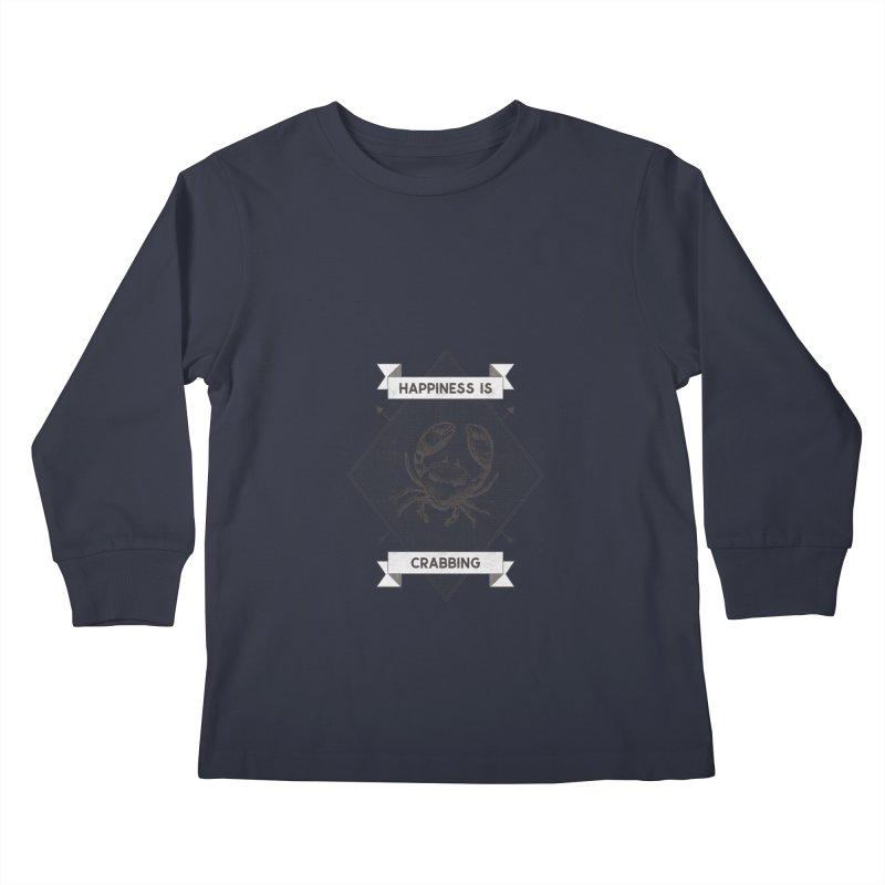CRABBING Kids Longsleeve T-Shirt by Saksham Artist Shop