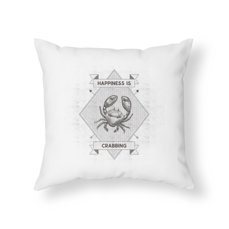 CRABBING Home Throw Pillow by Saksham Artist Shop