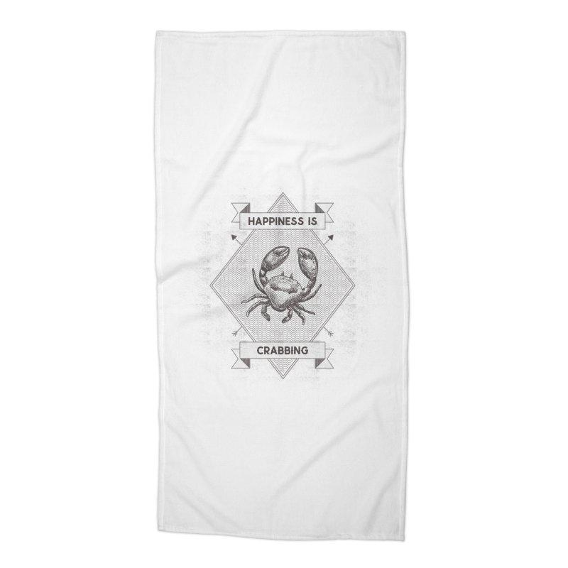 CRABBING Accessories Beach Towel by Saksham Artist Shop