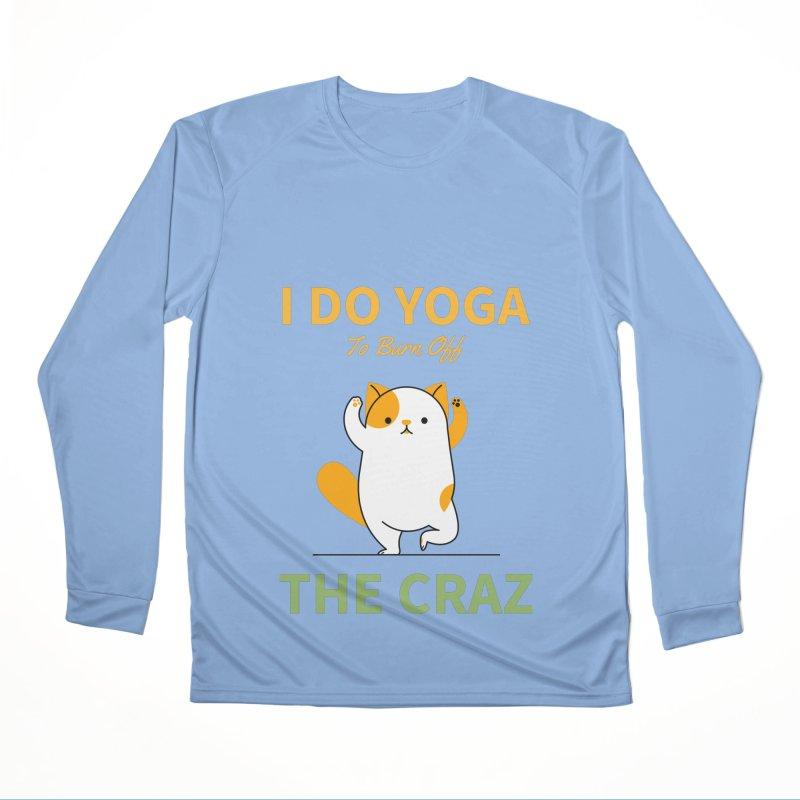I DO YOGA TO BURN OFF THE CRAZY Men's Longsleeve T-Shirt by Saksham Artist Shop