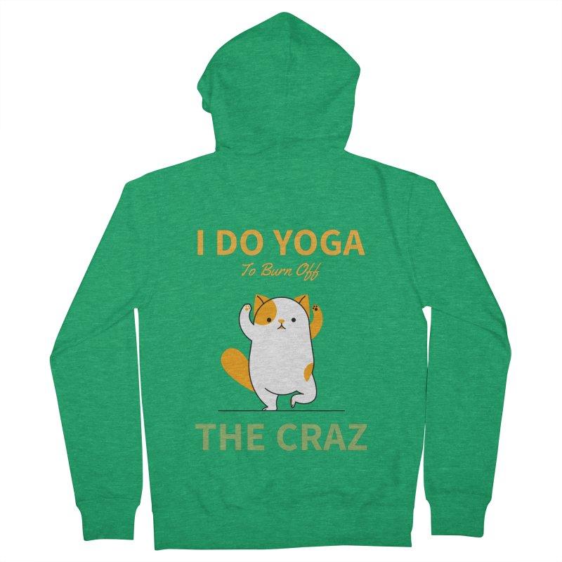 I DO YOGA TO BURN OFF THE CRAZY Men's Zip-Up Hoody by Saksham Artist Shop