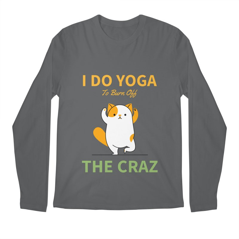 I DO YOGA TO BURN OFF THE CRAZY Men's Longsleeve T-Shirt by Saksham Artist Shop