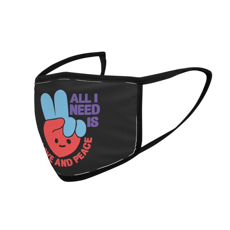 ALL I NEED IS LOVE AND PEACE Accessories Face Mask by Saksham Artist Shop