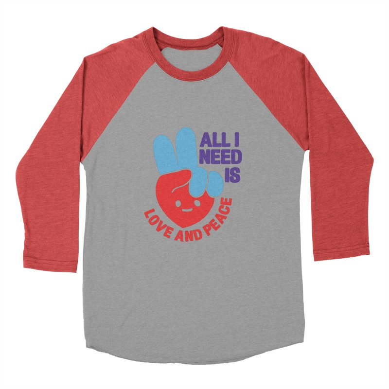 ALL I NEED IS LOVE AND PEACE Men's Longsleeve T-Shirt by Saksham Artist Shop