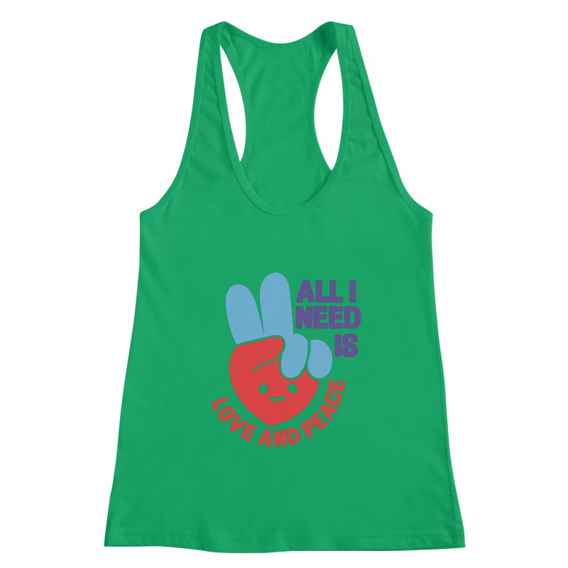 ALL I NEED IS LOVE AND PEACE Women's Tank by Saksham Artist Shop