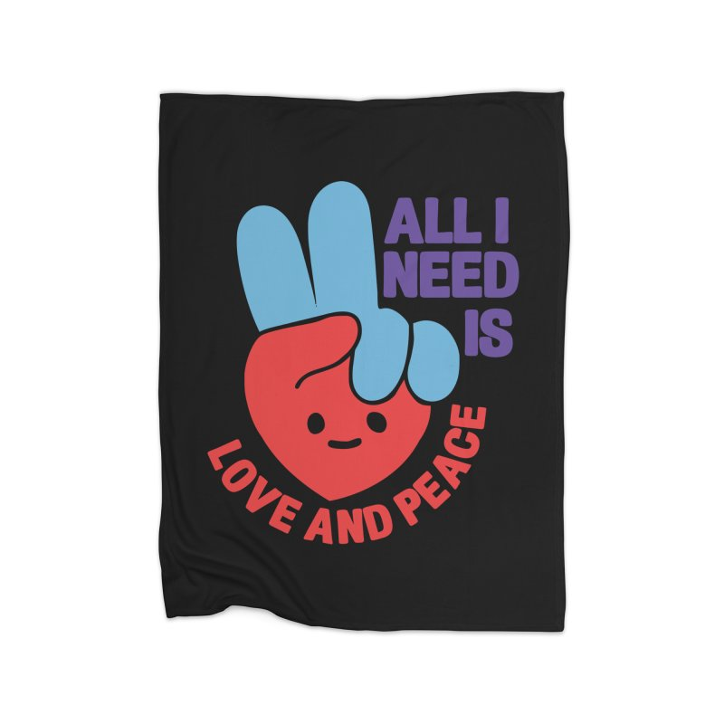 ALL I NEED IS LOVE AND PEACE Home Blanket by Saksham Artist Shop