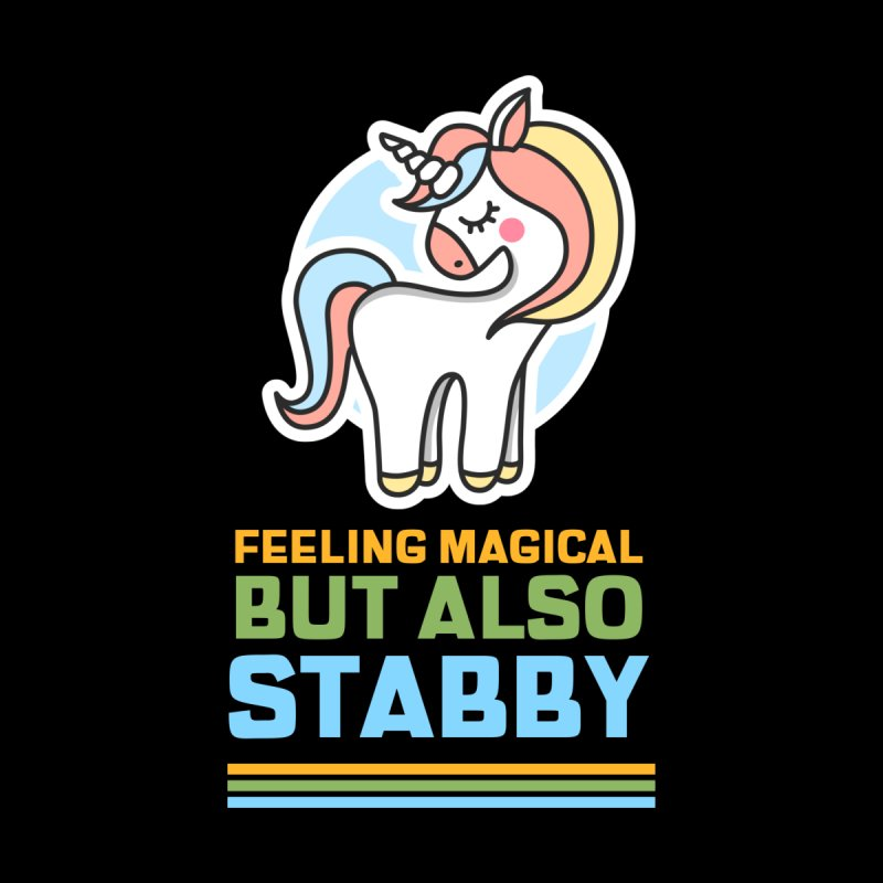 FEELING MAGICAL BUT ALSO STABBY Accessories Button by Saksham Artist Shop