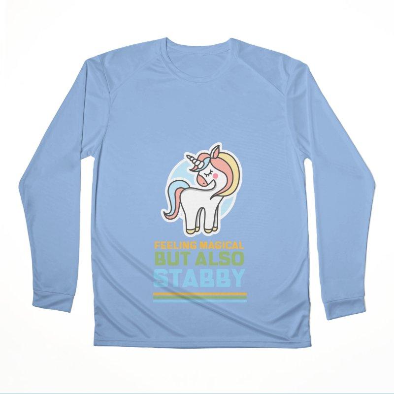 FEELING MAGICAL BUT ALSO STABBY Men's Longsleeve T-Shirt by Saksham Artist Shop