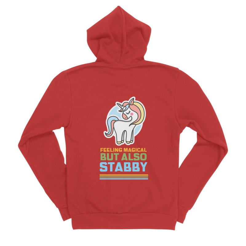 FEELING MAGICAL BUT ALSO STABBY Men's Zip-Up Hoody by Saksham Artist Shop