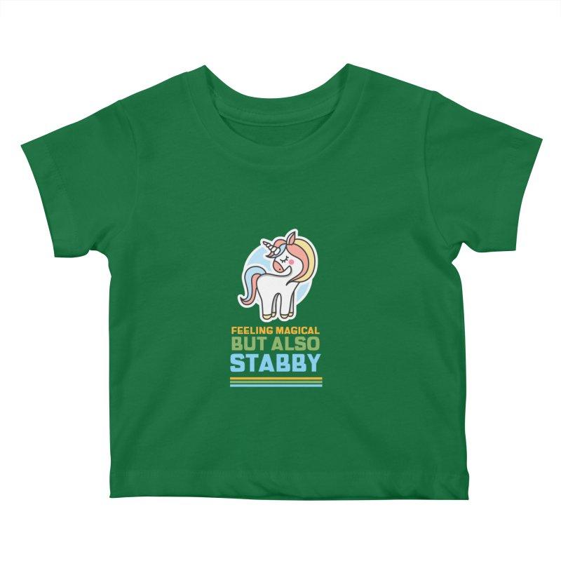 FEELING MAGICAL BUT ALSO STABBY Kids Baby T-Shirt by Saksham Artist Shop