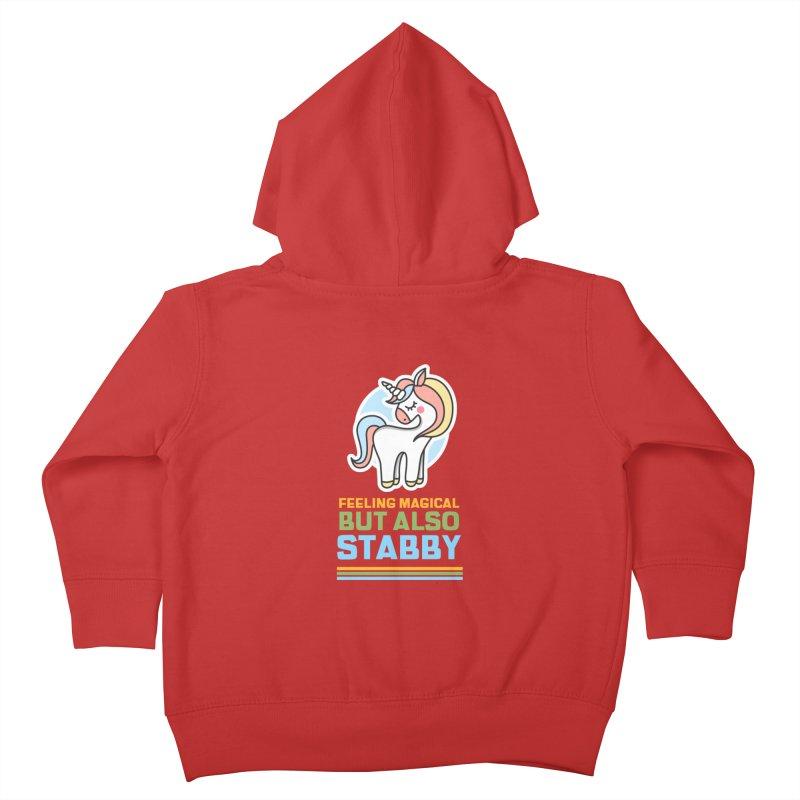 FEELING MAGICAL BUT ALSO STABBY Kids Toddler Zip-Up Hoody by Saksham Artist Shop