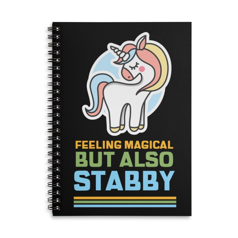 FEELING MAGICAL BUT ALSO STABBY Accessories Notebook by Saksham Artist Shop