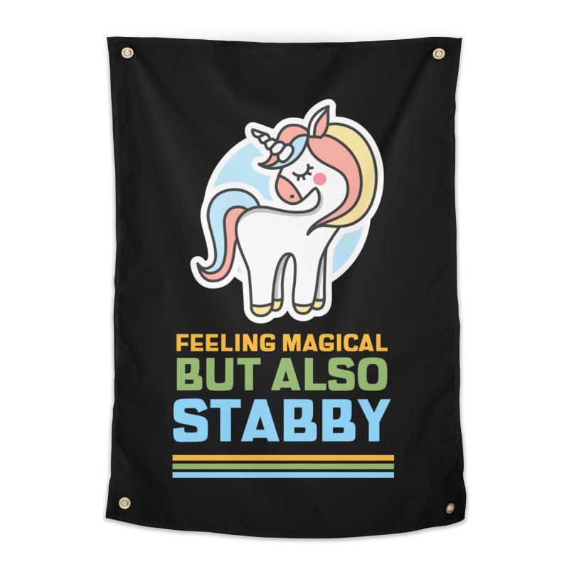 FEELING MAGICAL BUT ALSO STABBY Home Tapestry by Saksham Artist Shop