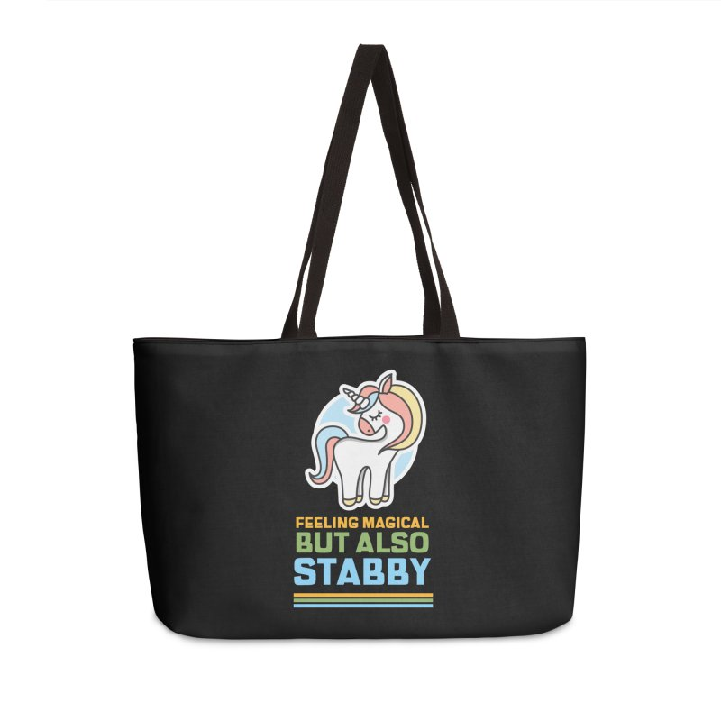 FEELING MAGICAL BUT ALSO STABBY Accessories Bag by Saksham Artist Shop
