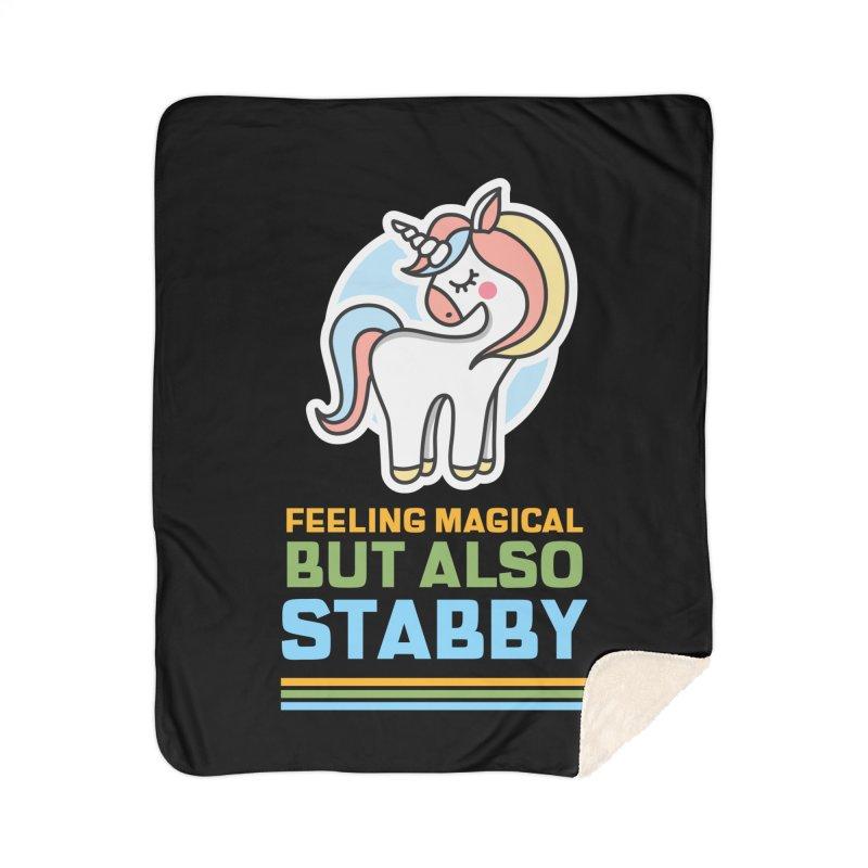 FEELING MAGICAL BUT ALSO STABBY Home Blanket by Saksham Artist Shop