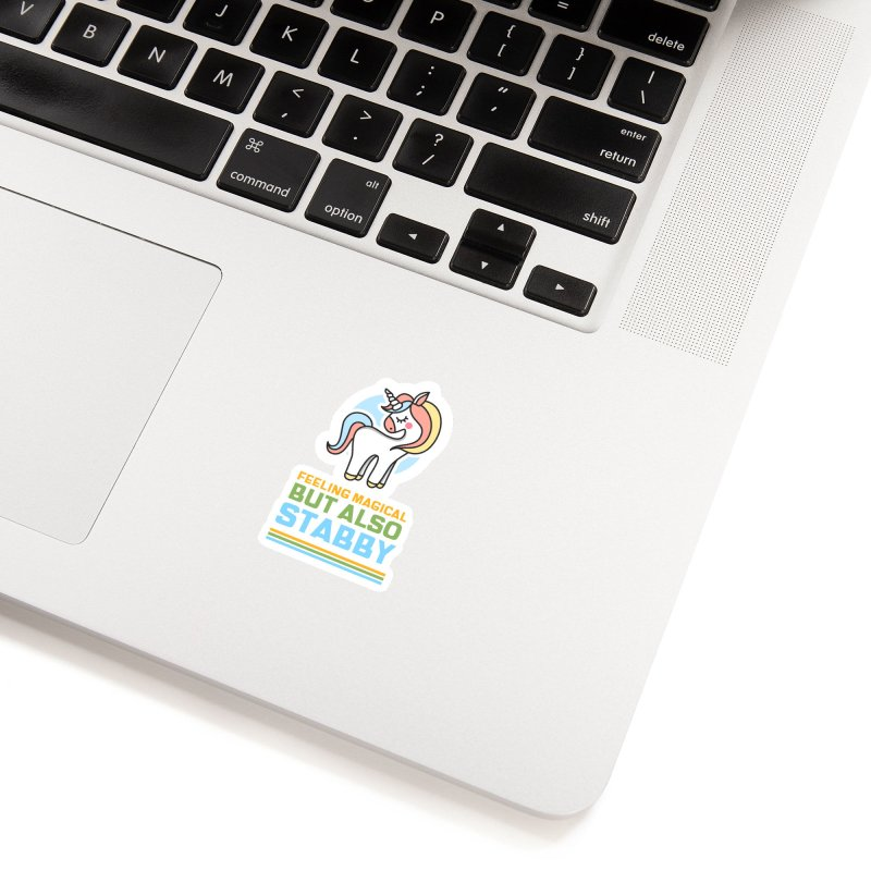 FEELING MAGICAL BUT ALSO STABBY Accessories Sticker by Saksham Artist Shop