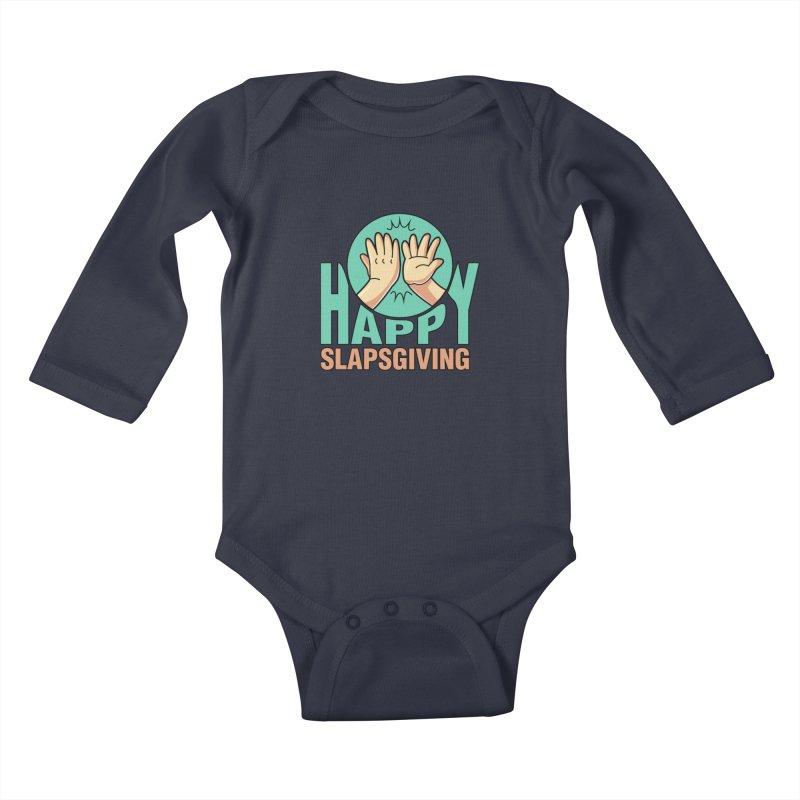 HAPPY SLAPSGIVING Kids Baby Longsleeve Bodysuit by Saksham Artist Shop