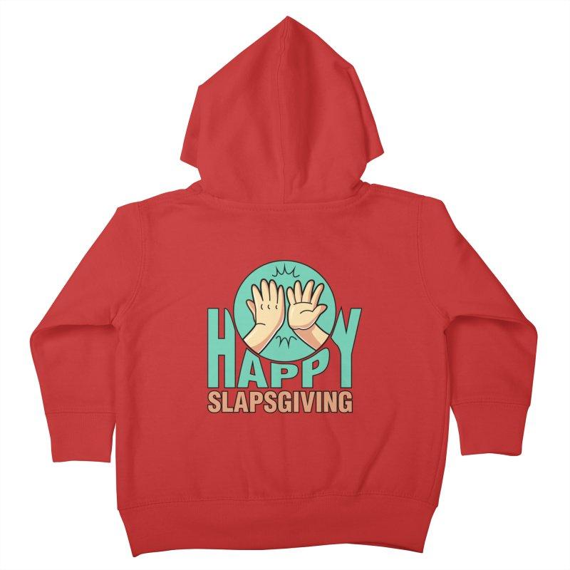 HAPPY SLAPSGIVING Kids Toddler Zip-Up Hoody by Saksham Artist Shop