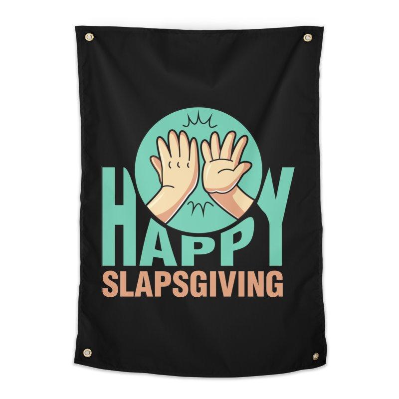 HAPPY SLAPSGIVING Home Tapestry by Saksham Artist Shop