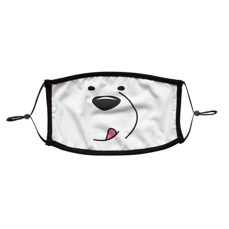 CUTE ICE BEAR FACE Accessories Face Mask by Saksham Artist Shop