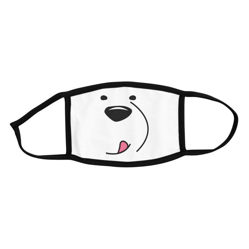 CUTE ICE BEAR FACE Accessories Face Mask by Saksham Artist Shop