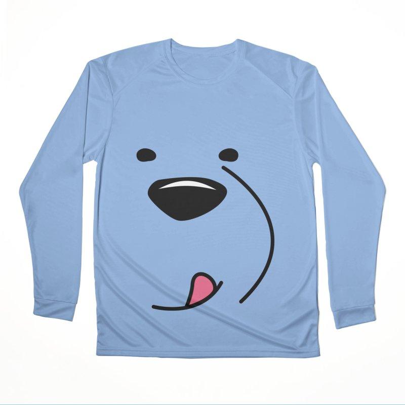 CUTE ICE BEAR FACE Men's Longsleeve T-Shirt by Saksham Artist Shop