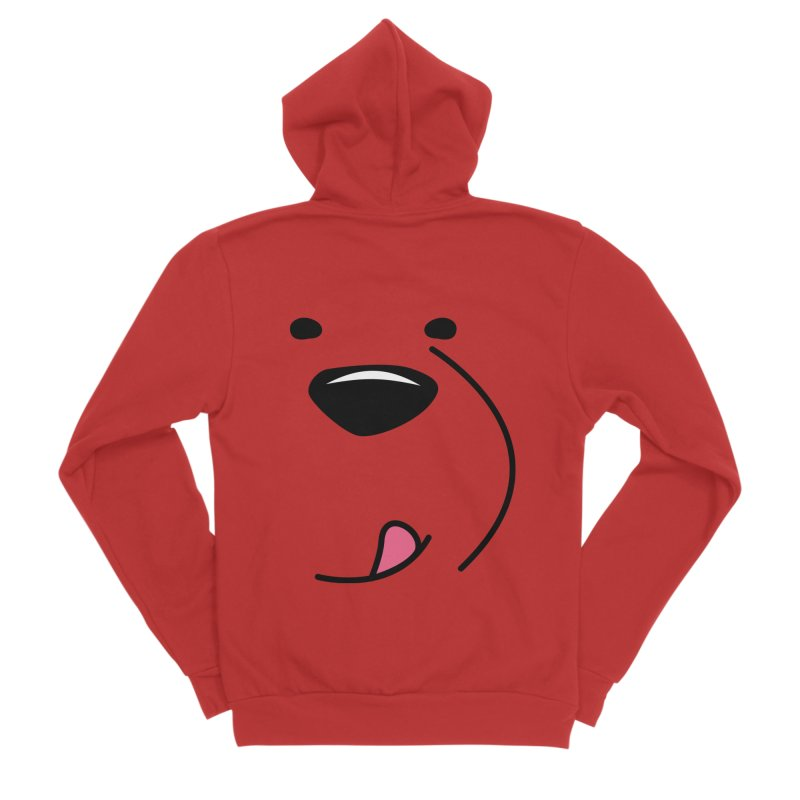 CUTE ICE BEAR FACE Women's Zip-Up Hoody by Saksham Artist Shop