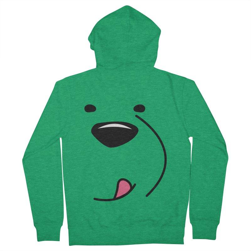 CUTE ICE BEAR FACE Men's Zip-Up Hoody by Saksham Artist Shop
