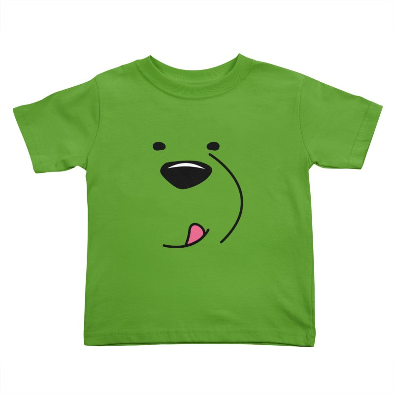 CUTE ICE BEAR FACE Kids Toddler T-Shirt by Saksham Artist Shop