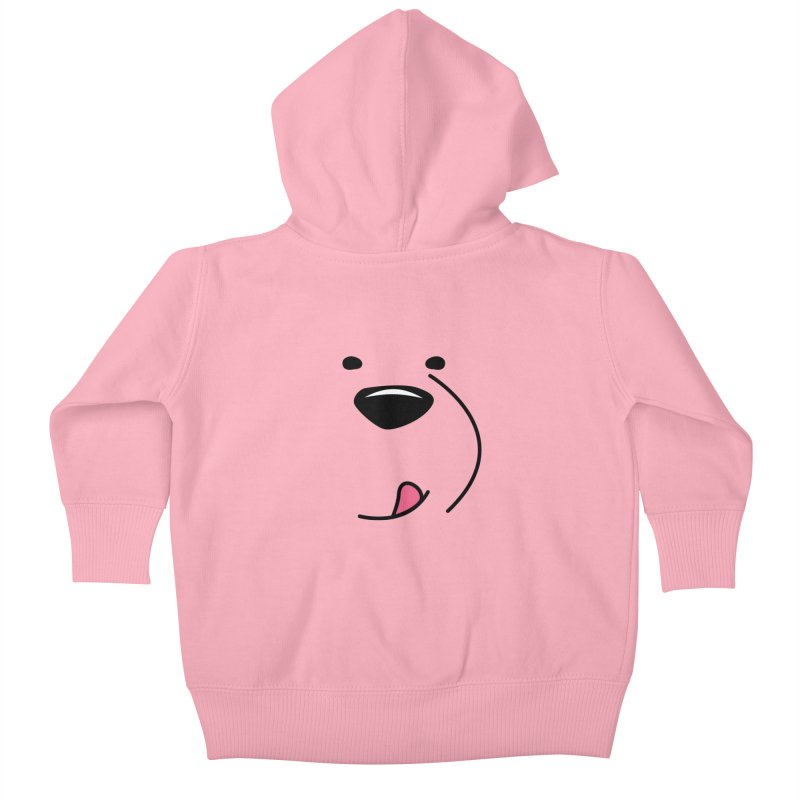 CUTE ICE BEAR FACE Kids Baby Zip-Up Hoody by Saksham Artist Shop