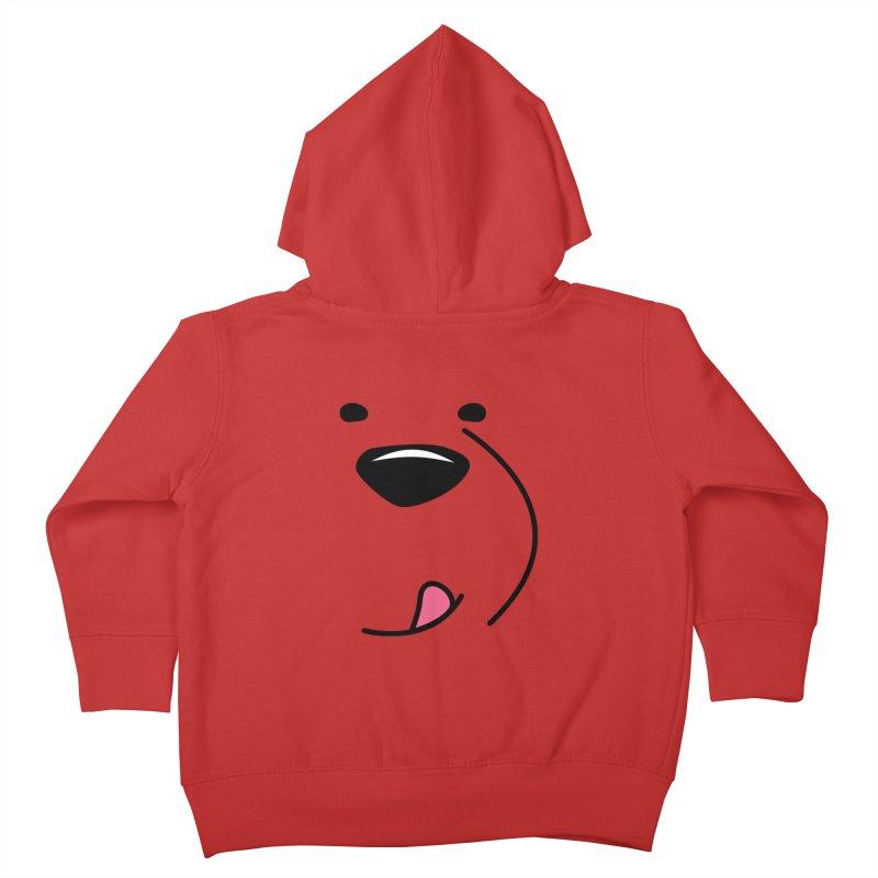 CUTE ICE BEAR FACE Kids Toddler Zip-Up Hoody by Saksham Artist Shop