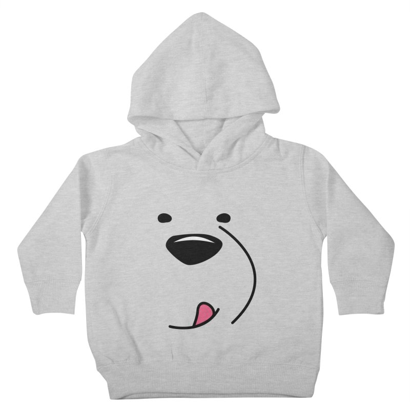 CUTE ICE BEAR FACE Kids Toddler Pullover Hoody by Saksham Artist Shop