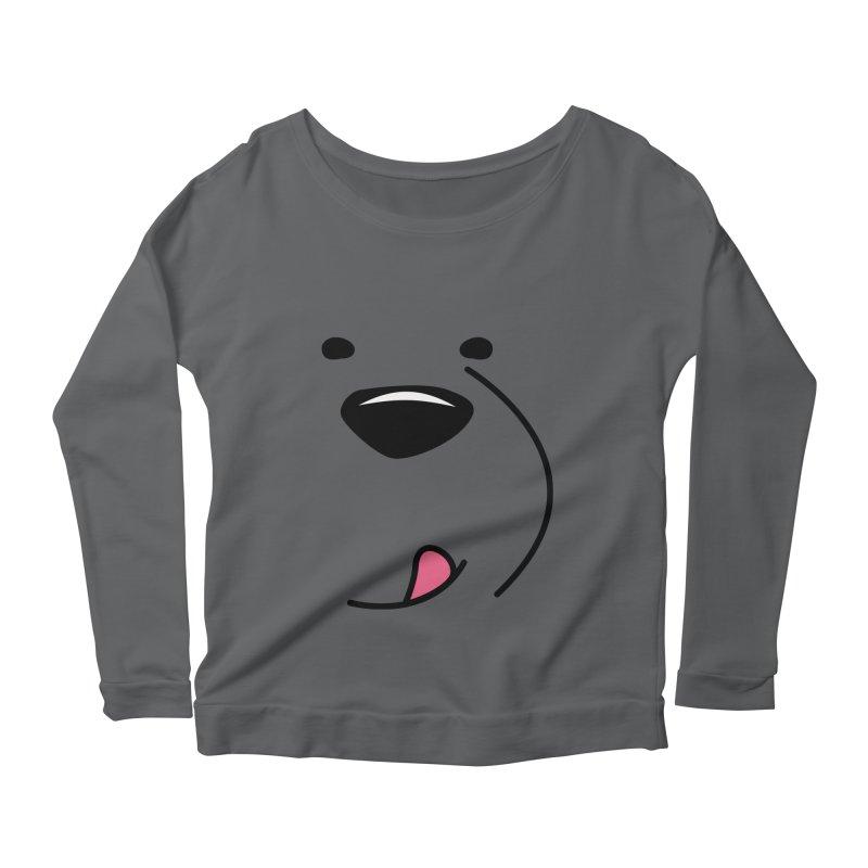 CUTE ICE BEAR FACE Women's Longsleeve T-Shirt by Saksham Artist Shop
