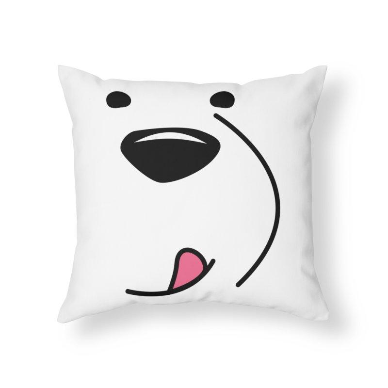 CUTE ICE BEAR FACE Home Throw Pillow by Saksham Artist Shop