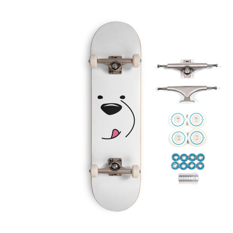 CUTE ICE BEAR FACE Accessories Skateboard by Saksham Artist Shop