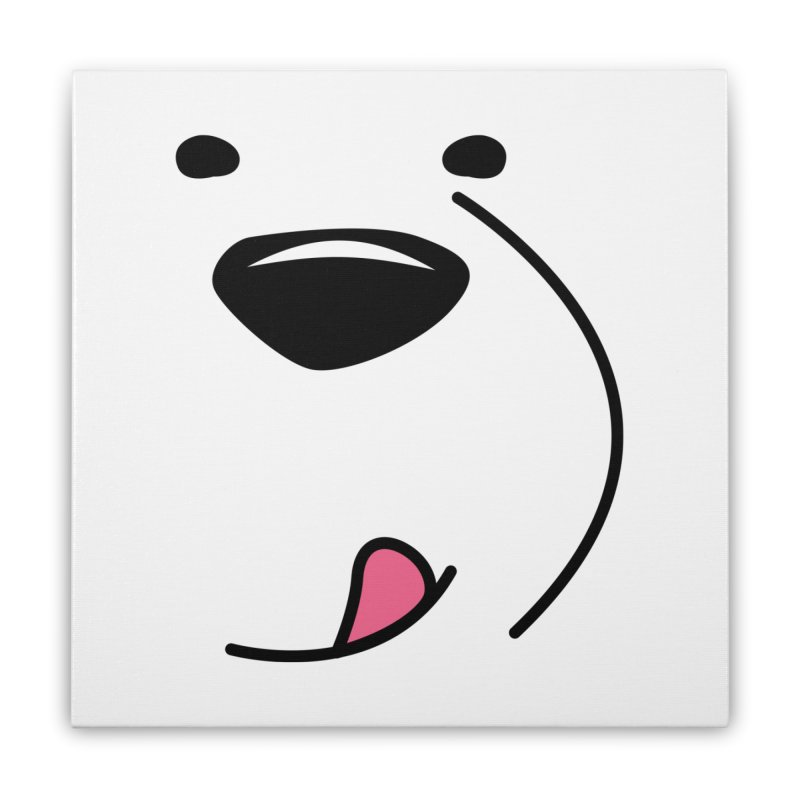 CUTE ICE BEAR FACE Home Stretched Canvas by Saksham Artist Shop