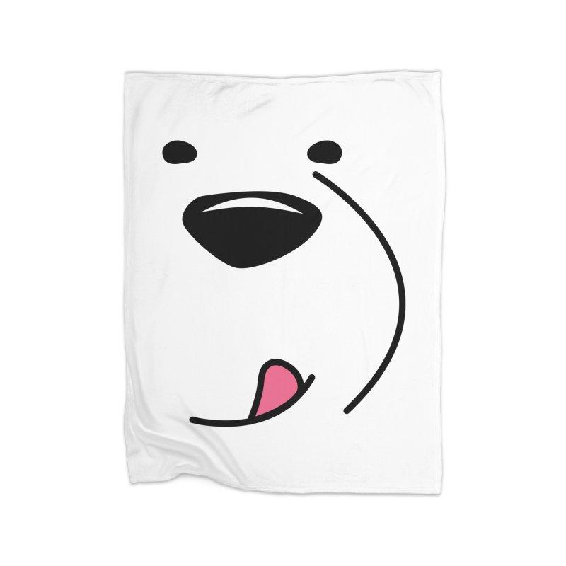 CUTE ICE BEAR FACE Home Blanket by Saksham Artist Shop