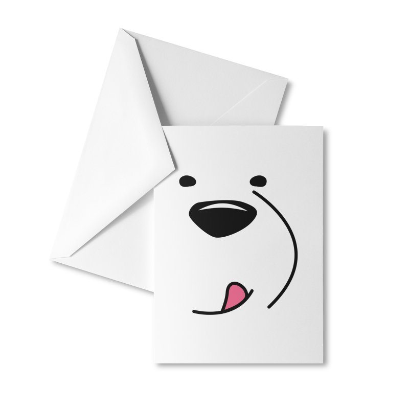 CUTE ICE BEAR FACE Accessories Greeting Card by Saksham Artist Shop