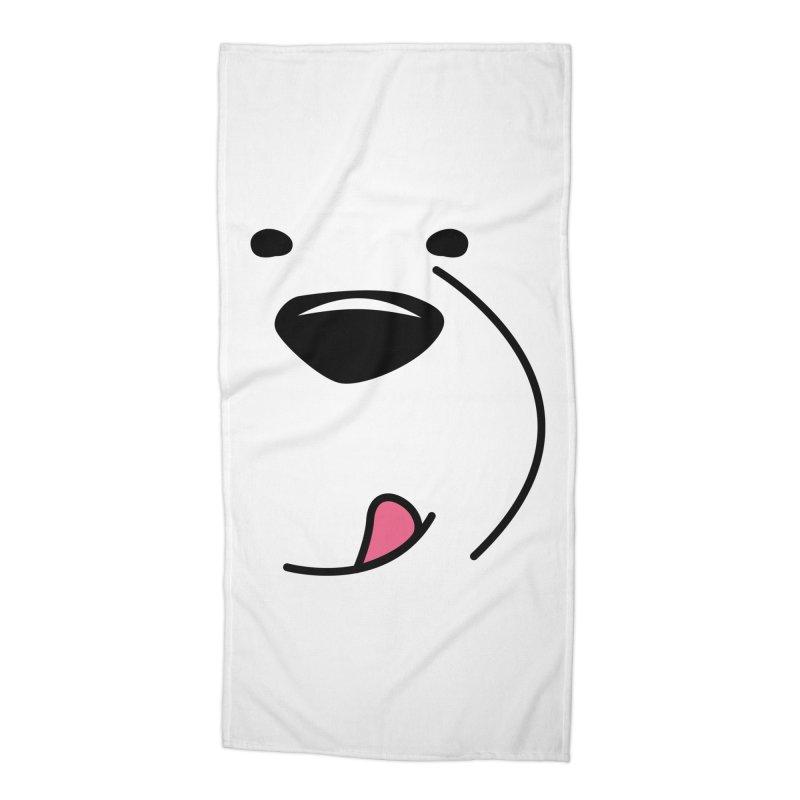 CUTE ICE BEAR FACE Accessories Beach Towel by Saksham Artist Shop