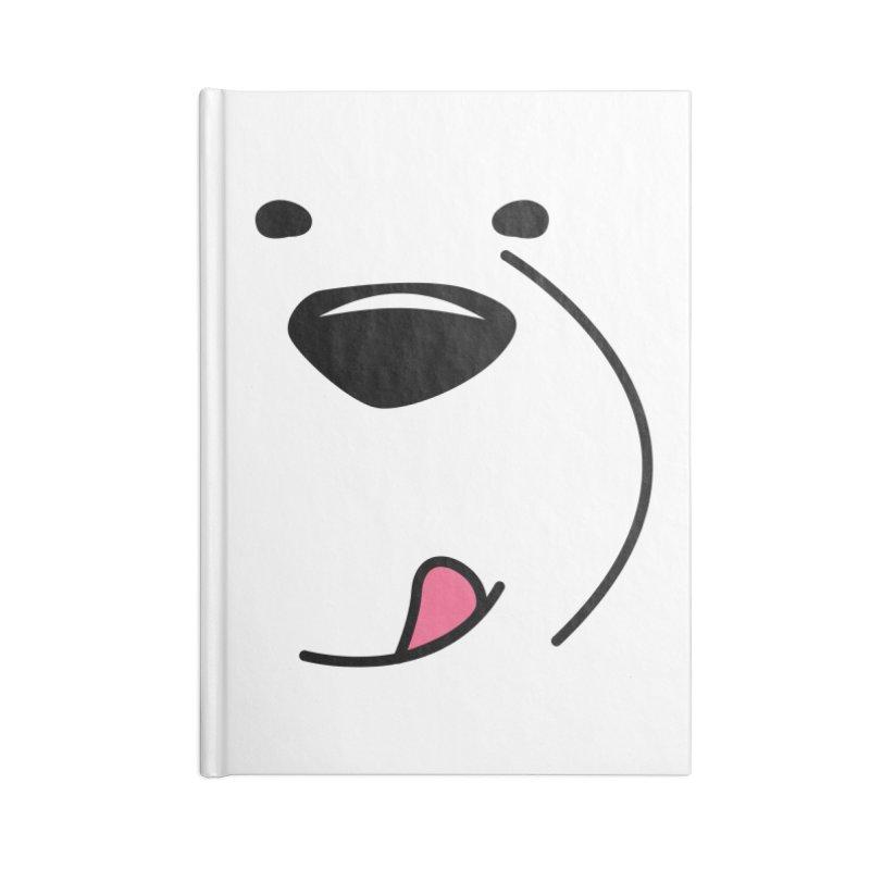 CUTE ICE BEAR FACE Accessories Notebook by Saksham Artist Shop