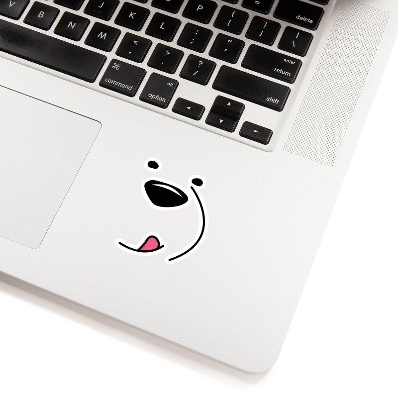 CUTE ICE BEAR FACE Accessories Sticker by Saksham Artist Shop